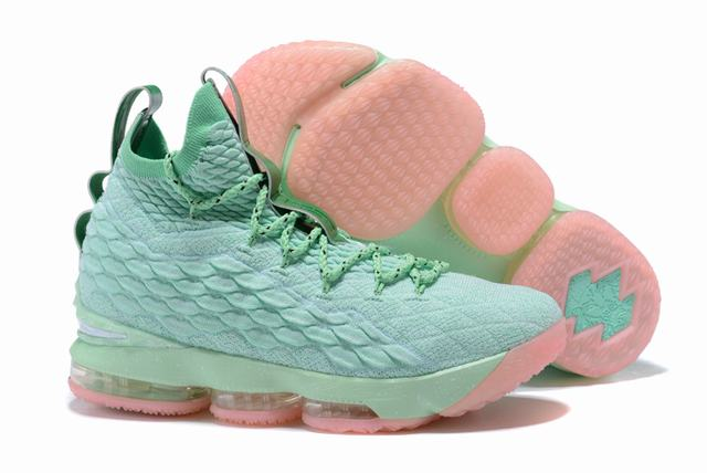 Nike Lebron James 15 Air Cushion Shoes Mint Green Pink