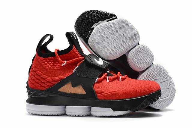 Nike Lebron James 15 Air Cushion Shoes Red Black Gold White