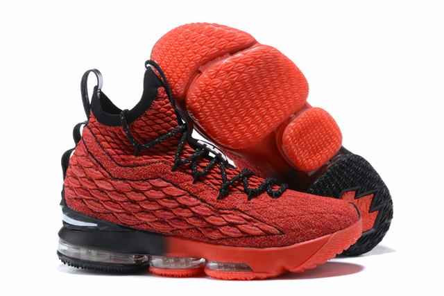 Nike Lebron James 15 Air Cushion Shoes Red Colors