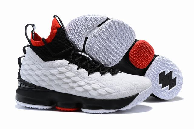 Nike Lebron James 15 Air Cushion Shoes White Black Red