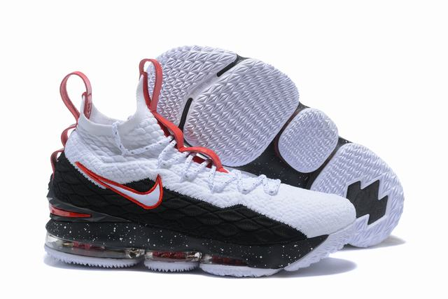 Nike Lebron James 15 Air Cushion Shoes White Red Black Red