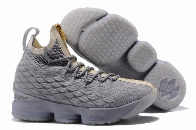 Nike Lebron James 15 Air Cushion Shoes Wolf Grey