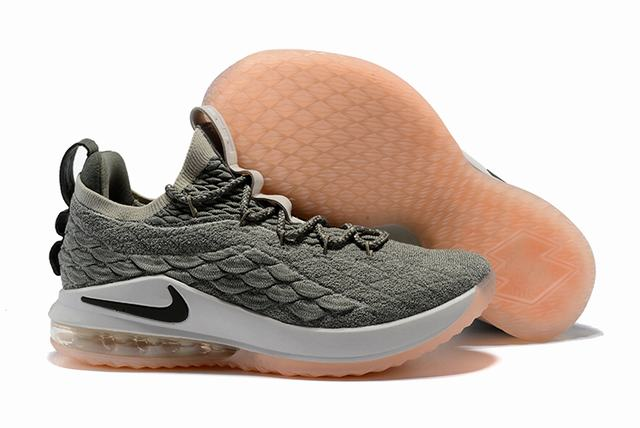 Nike Lebron James 15 Air Cushion Shoes Low Grey Pink