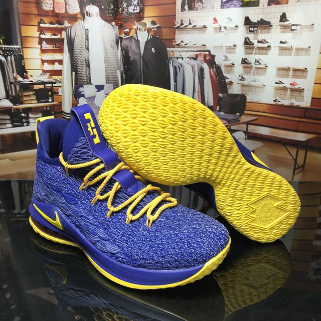 Nike Lebron James 15 Air Cushion Shoes Low Purple Yellow