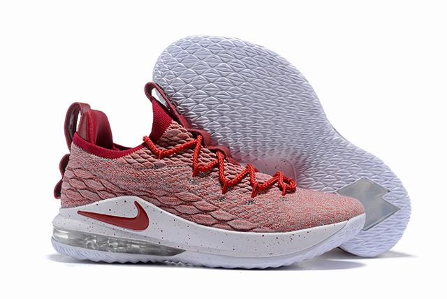 Nike Lebron James 15 Air Cushion Shoes Low University Red