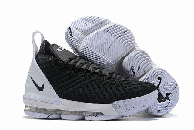Nike Lebron James 16 Air Cushion Shoes Black White White