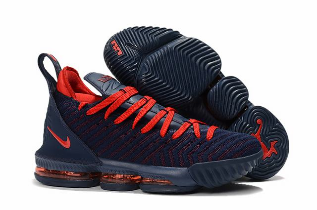Nike Lebron James 16 Air Cushion Shoes Dark Blue Orange