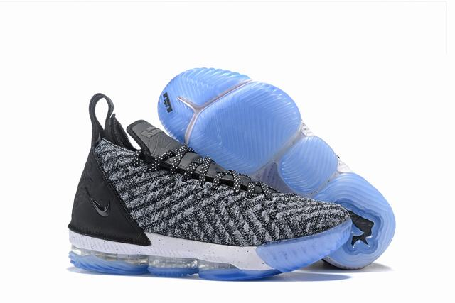 Nike Lebron James 16 Air Cushion Shoes Oreo Grey Black White