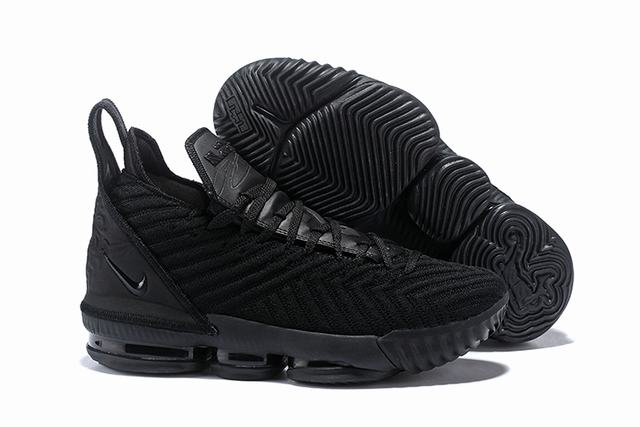 Nike Lebron James 16 Air Cushion Shoes Pure Black