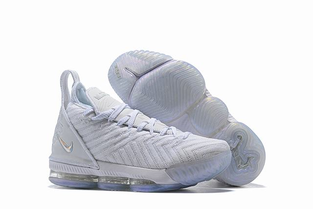 Nike Lebron James 16 Air Cushion Shoes Pure White