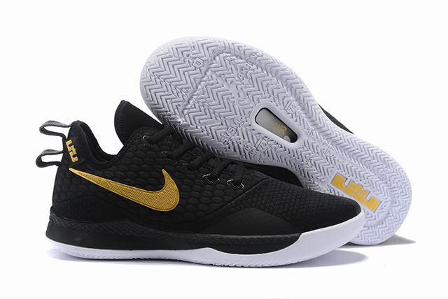 Nike Lebron James Witness 3 Shoes Black Gold