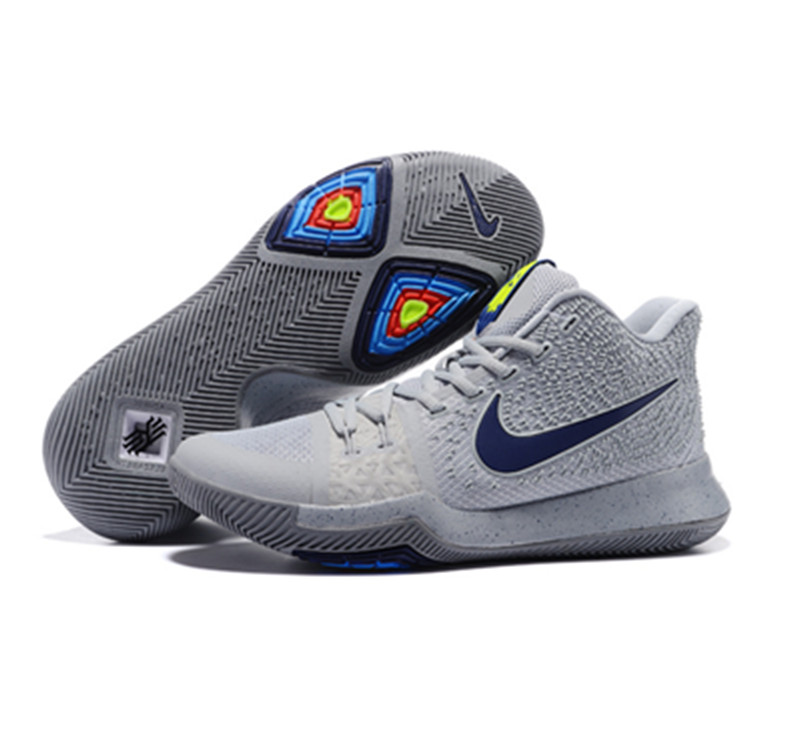 2017 Kyrie 3 Shoes Dazzle colour grey blue