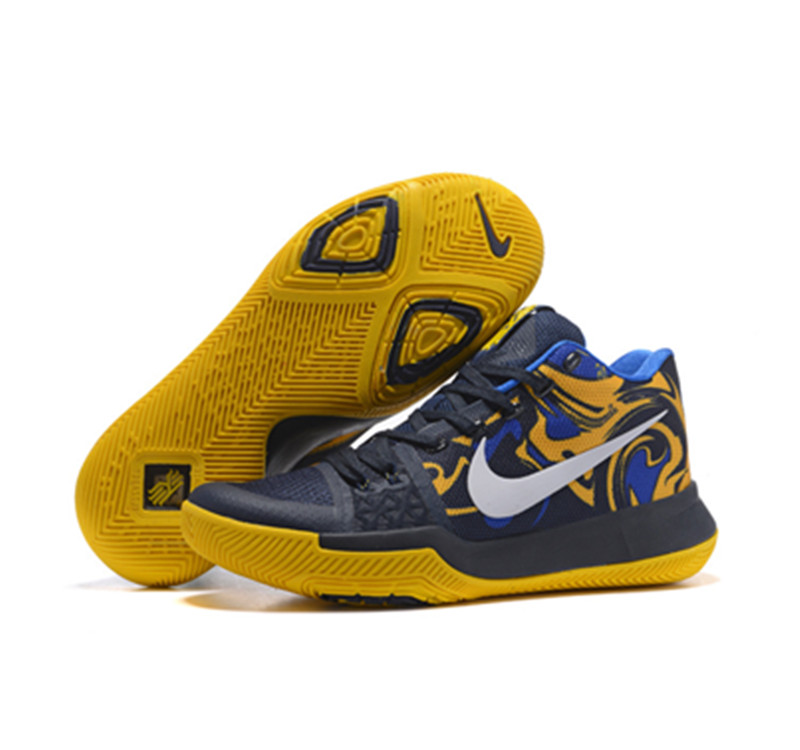 kyrie 3 shoes yellow white black