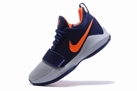 Nike Paul George Shoes PG 1 Gray Blue Orange