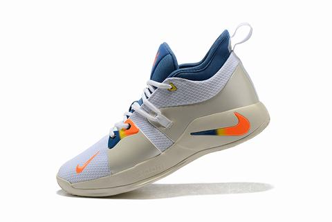 Nike PG 2 White to blule to orange
