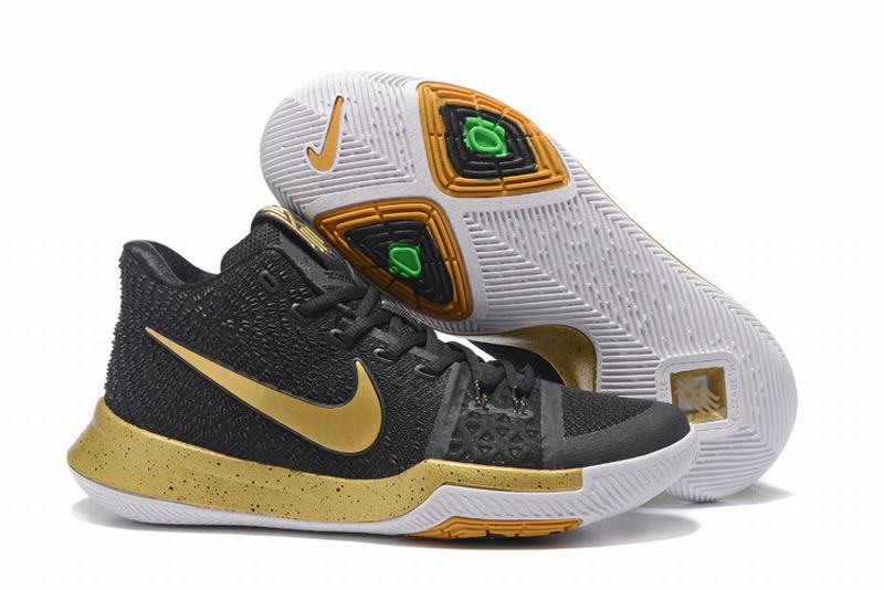 New Nike Kyire 3 Black Gold