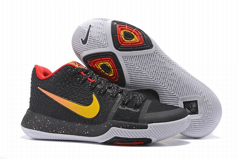 New Nike Kyire 3 Black Red Gold-logo