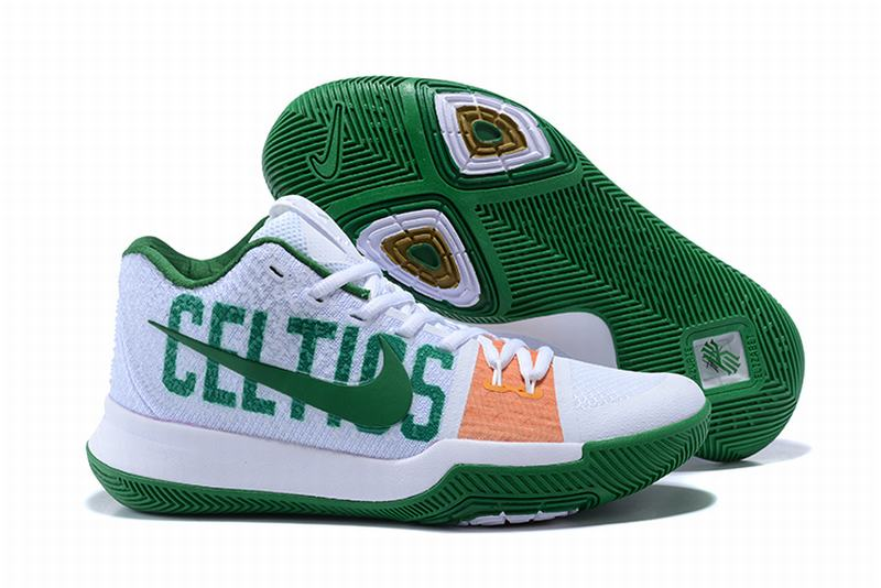 New Nike Kyire 3 CELTICS White Green