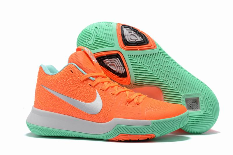 New Nike Kyire 3 Orange Green