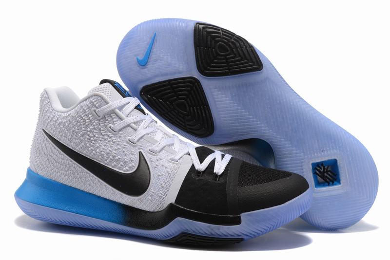 New Nike Kyire 3 White Blue Black-logo