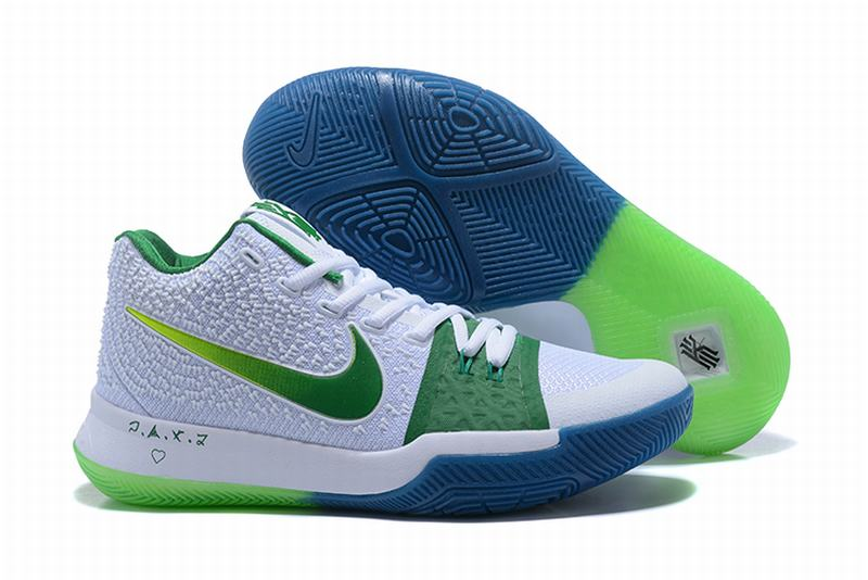 New Nike Kyire 3 White Green Yellow