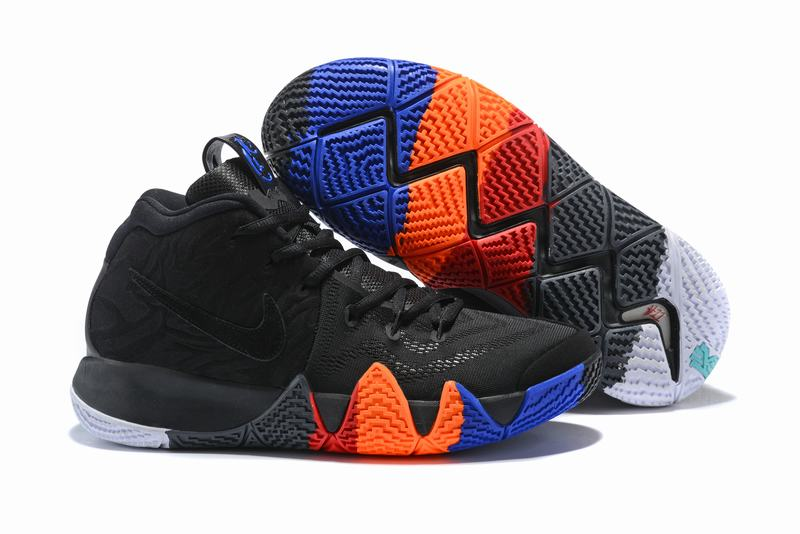 New Nike Kyire 4 Black Blue Orange