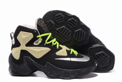 Nike Lebron James 13 Shoes Black White Green