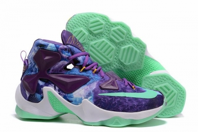 Nike Lebron James 13 Shoes Custom-made 25K Purple Green