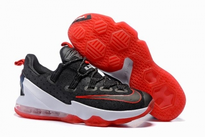 Nike Lebron James 13 Shoes Low Black Red