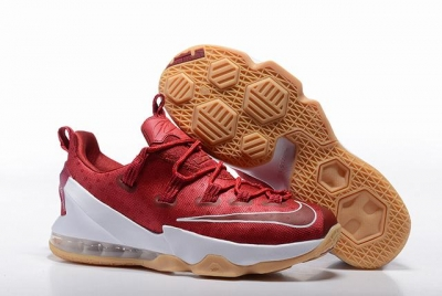 Nike Lebron James 13 Shoes Low Wine Red White