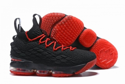 Nike Lebron James 15 Air Cushion Shoes Black Red Red