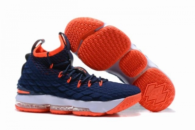 Nike Lebron James 15 Air Cushion Shoes Dark Blue Orange