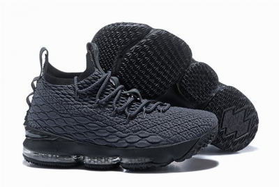 Nike Lebron James 15 Air Cushion Shoes Dark Grey Black