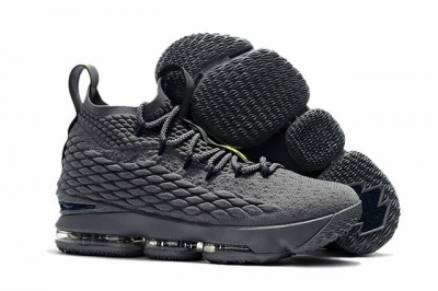 Nike Lebron James 15 Air Cushion Shoes Wolf Grey Black