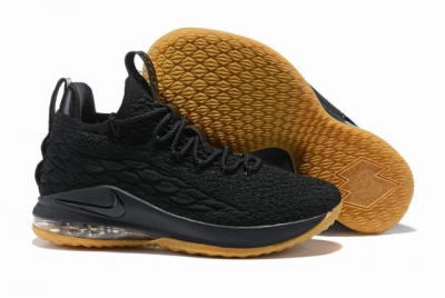 Nike Lebron James 15 Air Cushion Shoes Low Black Rubber