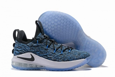 Nike Lebron James 15 Air Cushion Shoes Low Blue Black