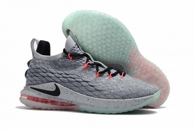 Nike Lebron James 15 Air Cushion Shoes Low Grey Black Pink