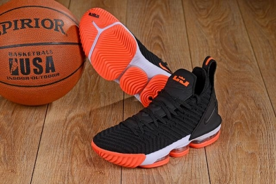 Nike Lebron James 16 Air Cushion Shoes Black Orange