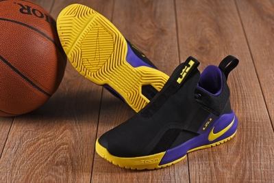 Nike Lebron James Ambassador 11 Shoes Black Purple Yellow
