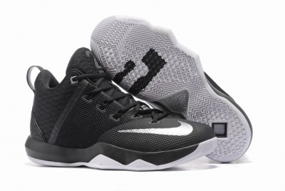 Nike Lebron James Ambassador 9 Shoes Black Silver