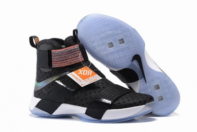 Nike Lebron James Soldier 10 Shoes Black Colors