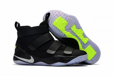 Nike Lebron James Soldier 11 Shoes Black Ice