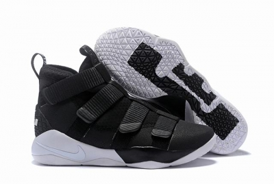 Nike Lebron James Soldier 11 Shoes Black White