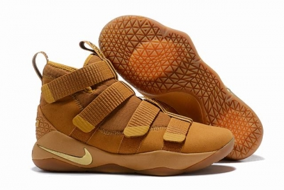 Nike Lebron James Soldier 11 Shoes Wheat Yellow