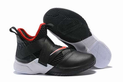 Nike Lebron James Soldier 12 Shoes Black White Red