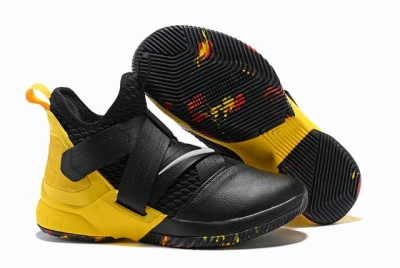 Nike Lebron James Soldier 12 Shoes Black Yellow
