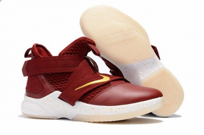 Nike Lebron James Soldier 12 Shoes Wine Red White