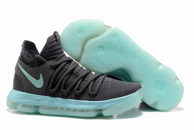 Nike KD 10 Shoes Cool Grey Jade Green