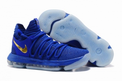 Nike KD 10 Shoes Royal Blue Gold