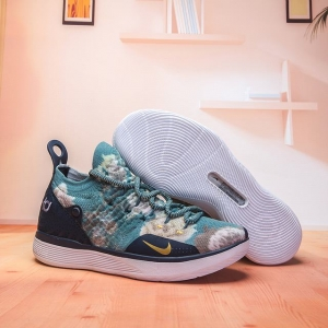 Nike KD 11 Shoes Dark Blue Gold